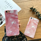 Pink Creative Marble Pattern Hard Phone Case Cover For iPhone 6 6s Plus 7 7Plus