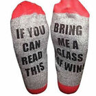 Xmas Unisex*If You Can Read This Bring Me a Beer Sock*Women's Men's Wine Socks