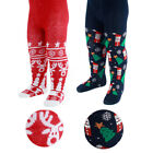 BABY GIRLS/BOYS UNISEX XMAS TIGHTS SANTA REINDEER 0-6-12 MONTHS RED NAVY