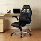 Chairs - Ergonomic Swivel High Back Video Game Chair WRolling Wheels And Lumbar Support