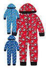 Boys Football Jumpsuit New Kids Full Length All In One Onezee PJs 2 - 6 Years