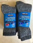4 Pairs KIRKLAND Signature Hiking Trail Men Socks Merino Wool Made in USA M or L