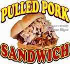 Pulled Pork Sandwich DECAL (CHOOSE YOUR SIZE) Candy Food Truck Sign Concession