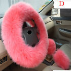 Universal Plush Warm Steering Wheel Cover Woolen Handbrake Car Accessory Fur