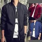 Autumn Men Leisure Long Sleeve Bomber Baseball Jacket Zipper Short Coat Outwear