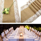 Hessian Burlap Ribbon Lace Rustic Wedding Party Decors Centre Table Runner Lots