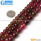 Faux Crackle Tourmaline Quartz Round Beads For Jewelry Making Free Shipping 15""