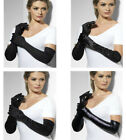 Ladies Long Black Gloves All Varieties