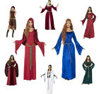 Ladies Medieval Costume Maid Marion Fancy Dress