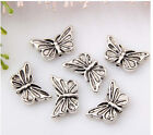40/110pcs zinc alloy nice butterfly spacer beads 2B57 17mm