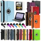 360 Rotating Magnetic PU Leather Stand Case For The New iPad 4 4G Gen 3 3rd 2