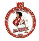 ELVIS PRESLEY Personalized Christmas Ornament Any Name/Message FREE Ship
