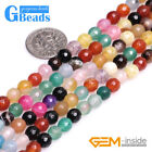 """Natural Mixed Color Agate Gemstone Faceted Round Beads For Jewelry Making 15"""""""