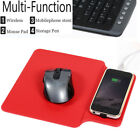 Qi Computer Mouse Pad Mat Mobile Phone Stents Holder Wireless Charger 3 Color US