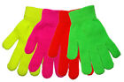 Neon Magic Gloves Mens Womens Stretchy Acrylic Available In 4 Colours NWT