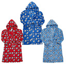 Boys Football Soft Fleece Hooded Dressing Gown Ages 7,8,9,10,11,12,13 NEW