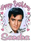 ELVIS PRESLEY BIRTHDAY T-SHIRT Personalized Any Name/Age Great Gift