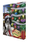 Christmas Happy Holidays Bluetick Coonhound Dog Tree Pres...