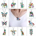 Fashion  Animal Butterfly Dog Owl Charm Pendant Necklace Women Lady Jewelry Gift