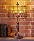 LED Lamps Industrial Decorative Caged Bronze Galvanized Metal Lights Inside Wire