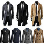 Men's Winter Warm Double Breasted Overcoat Trench Long Coat Jacket Smart Peacoat