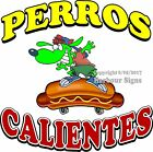 Perros Calientes DECAL (Choose Your Size) Hot Dog Food Truck Concession Sticker