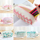 1pc Canvas Pencil Large Capacity Pen Box Stationery Pouch Makeup Cosmetic Bag