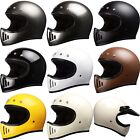 M50 Style Full Face Motorcycle Motocross Helmet 5 Snap DOT CHOOSE SIZE & COLOR