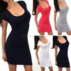 USA Women's Casual Summer Mini Dress Cocktail Party Evening Bodycon Sleeveless
