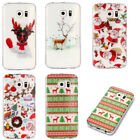 New Lovely Christmas Pattern TPU Back Cover Case for Samsung Galaxy S6 S7 Edge