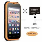 XGODY G14 16GB Smartphone Android 6.0 Quad Core Rugged 1GB+16GB IP68 Cell Phone
