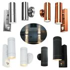 Dual Up / Down Outdoor Security Porch Outside Wall House Garden Twin PIR Lights