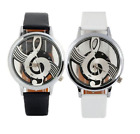 Newest Music Note Wristwatches Watch Faux Leather Musical Themed UK Seller
