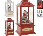 20cm Christmas Lantern with Music Lights and Snowstorm Christmas Decoration