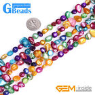 """8x11mm Multicolor Freeform Shell Beads for Jewelry Making 15"""""""