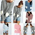 Fashion Women Long Sleeve Knitted Sweater Loose Cardigan Tops Outwear Coats ILC