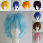 Super Hot Halloween Red Blue Light Blue White Cosplay Wig Anime Party Unisex GF4