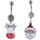 Christmas Belly Navel Bar - 10mm - Body Jewellery - Santa Claus - Rudolph