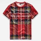 G-star Royal Tartan Print Round Neck Camisetas