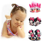 2pcs Disney Mickey Minnie Mouse PVC Hair Ties Rope Elastic Hair Bands Girl Kids