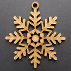 Wooden Christmas Snowflakes Tree Decorations Craft Hanging Bauble Blank Shapes <br/> Buy 3 Get 1 Free!! Available in 4cm, 5cm, 6cm, 7cm