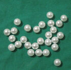 Pearl white luster NO HOLE bead/ball loose acrylic Select size & quantity #gkb