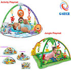 Baby Rainforest Deluxe Playmat Infant Jungle Soft Music Lights Activity Gym/Arch
