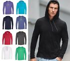 Anvil Men's Ringspun Cotton, Lightweight Hooded Hoodie Shirt, T-shirt, S-2XL 987