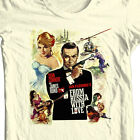 James Bond T-shirt From Russia with Love Sean Connery 100% cotton graphic tee $19.99 USD