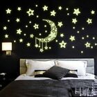 Diy Night Light Glow In The Dark Moon Stars Home Decoration New L2&@