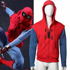 US Stock Mens Spider-man Homecoming Red Hoodie Coat Zip Sports Cotton Jacket