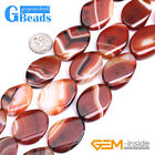 Free Shipping 20x30mm Oval Banded Agate Beads for Jewelry Making Strand 15""