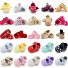 Infant Baby Girl Soft Sole Crib Shoes Princess Bow Anti-Slip Sneaker Prewalker A