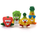 WONPET Squeaker Latex Dog Toy Fruit & Vegetable Squeaky Puppy Chew Activity Play
